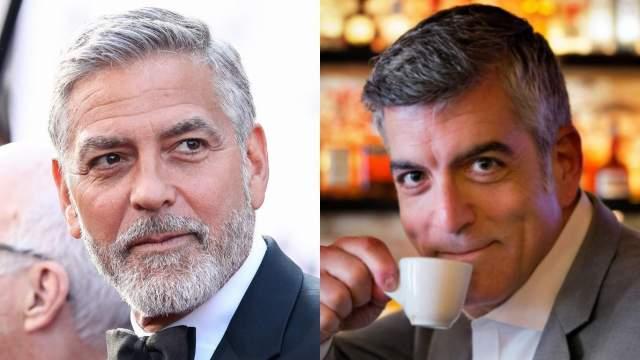 Дэвид Сигел и Джордж Клуни. Сигел уже более пяти лет работает двойником Джорджа Клуни.
