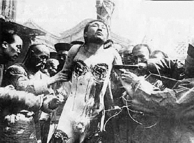 Лиин Чи (Тысяча ножей). Китайский способ казни, который заключался в том, что жертве по чуть-чуть отрезали кусочки тела, из-за чего, человек умирал очень долго.