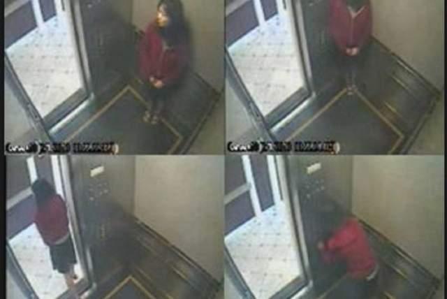 Элиза вошла в лифт, нажала комбинацию кнопок и встала к стене. Затем переместилась ближе в угол, где ее не заметили бы из коридора. Она несколько раз выглянула в коридор, посмотрев направо и налево. Постояв в углу и поняв, что никто за ней не идет, Элиза сделала еще несколько шагов по кабине, снова нажала кнопки, вышла из лифта. В целом, она вела себя так, будто накурилась или употребила что-то посильнее.