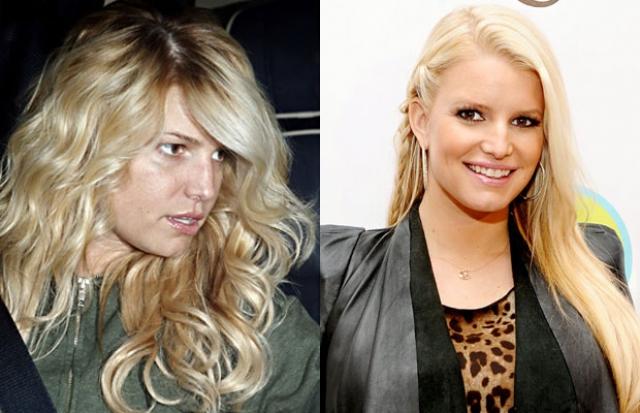 Джессика Симпсон без макияжа не напоминает гламурную блондинку, которой она предстает на красных ковровых дорожках.