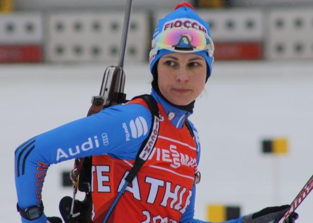 Микела Понца. Итальянская биатлонистка, бронзовый призер чемпионата мира в эстафете, неоднократный призер этапов Кубка мира.