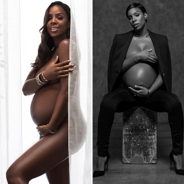 Американская певица и актриса Келли Роуленд также решила последовать примеру коллег и принять участие в откровенной фотосессии на последних неделях беременности.