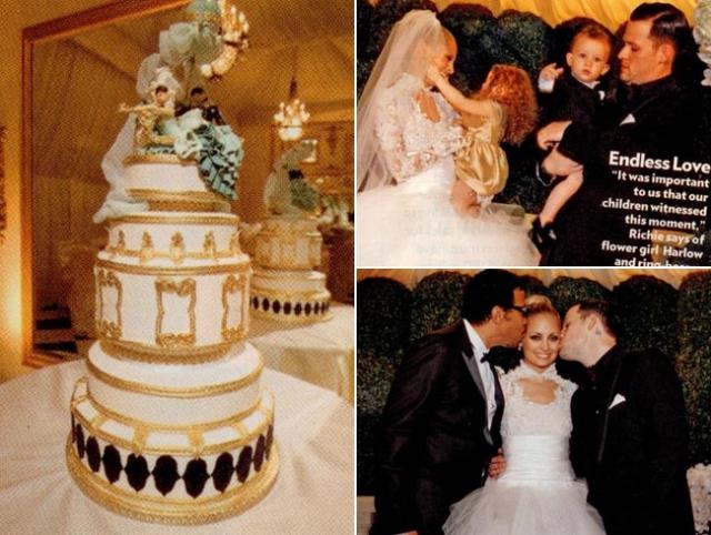 В списке свадебных пожеланий невесты значились настоящий слон и платье в стиле наряда Грейс Келли. Церемония прошла в поместье Лайонела Ричи в Беверли Хиллз.