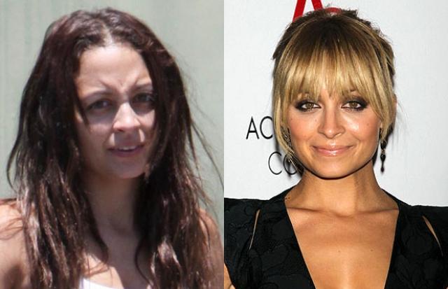 Николь Ричи без макияжа довольно сложно узнать, поскольку обычно ее мейкап чересчур ярок.