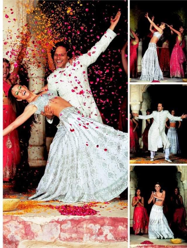 Невеста сменила чуть ли не десяток нарядов, в торжество проходило в элитном отеле Umaid Bhawan Palace, который пришлось арендовать полностью с учетом количества гостей.