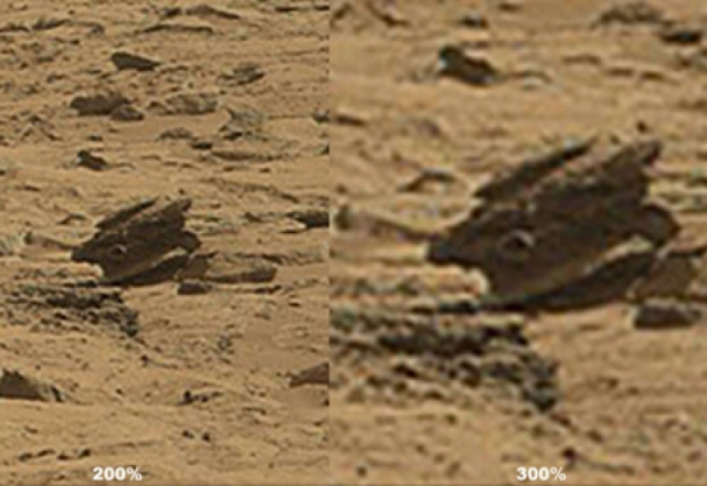 В ноябре 2012 года исследователи-энтузиасты обнаружили объект странной формы, не похожий на естественный.