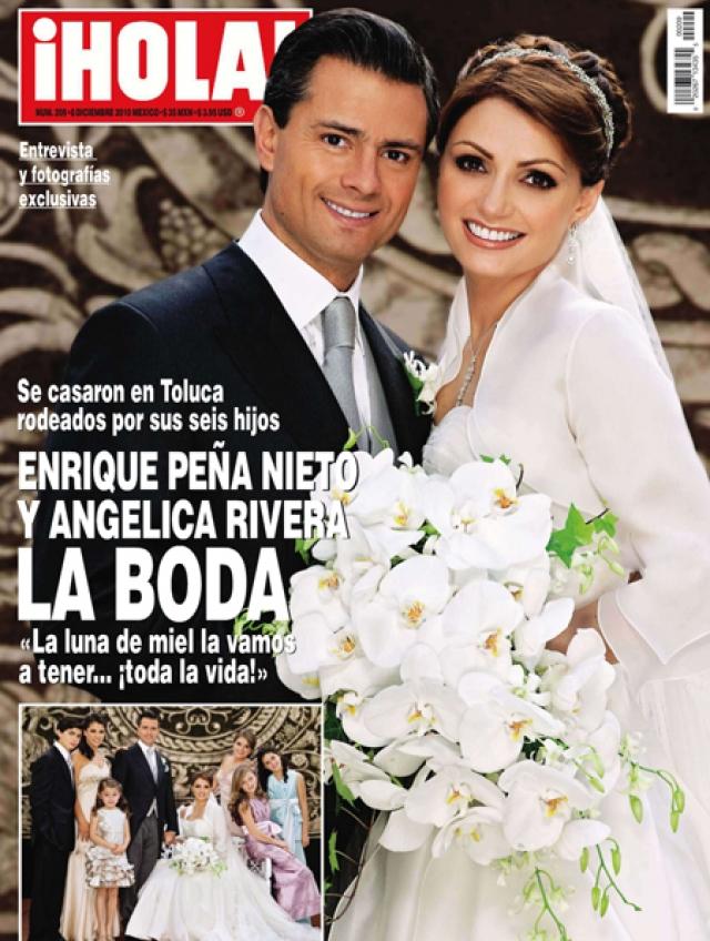 В 2010 году в ее жизни произошли изменения, достойные сюжета захватывающей теленовеллы: она сыграла свадьбу с Энрике Пенья, тогда еще губернатором штата Мехико.