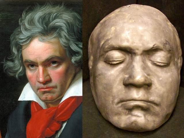 Молодой художник Иосиф Даннхаузер сделал маску через два дня после смерти композитора, и контраст с прижизненной маской Бетховена 1812 года просто удивителен.