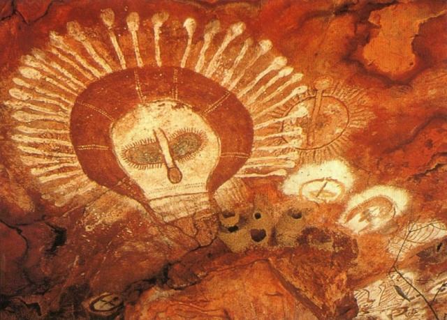 """Это """"портрет"""" Вандины, богини неба, голову которой окружает ореол сияющих лучей."""