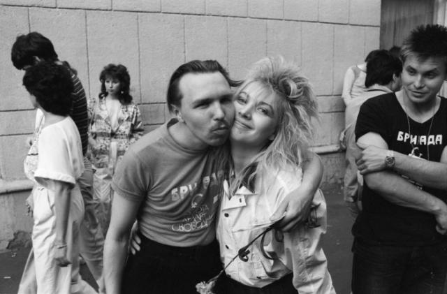 Гарик Сукачев с супругой, 1987 год.