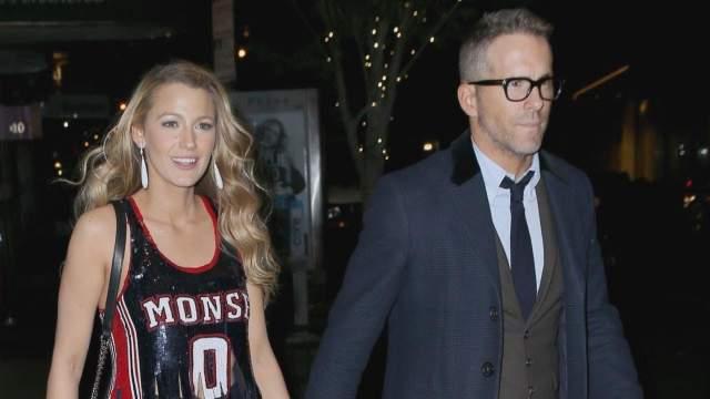 Блейк Лайвли отправляется на свидание в ресторан с супругом Райаном Рейнольдсом .