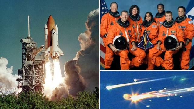 """В 2003 году настоящий космический шаттл """"Колумбия"""" потерпел крушение - катастрофа произошла еще во время запуска."""