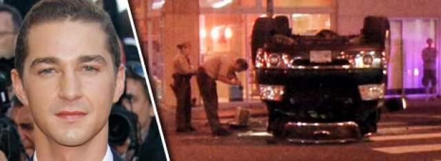 Шайа Лабаф. Актер попал в ДТП в пьяном виде в 2008 году, за что также получил весьма мягкое наказание.