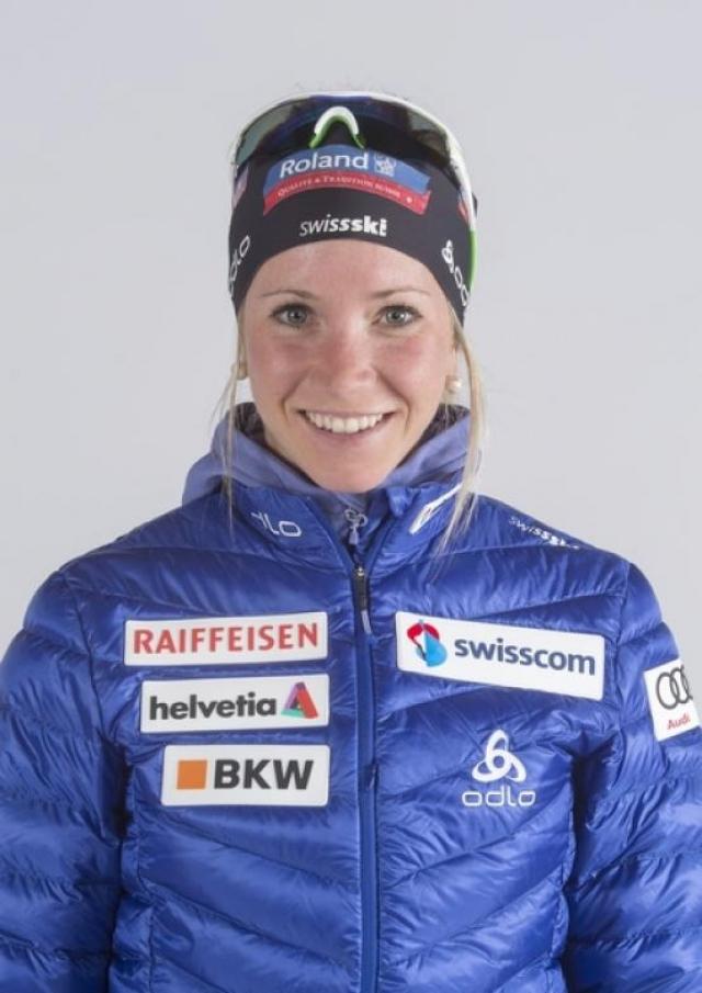 Элиза Гаспарин. Одна из трех сестер-биатлонисток, представляющих Швейцарию.