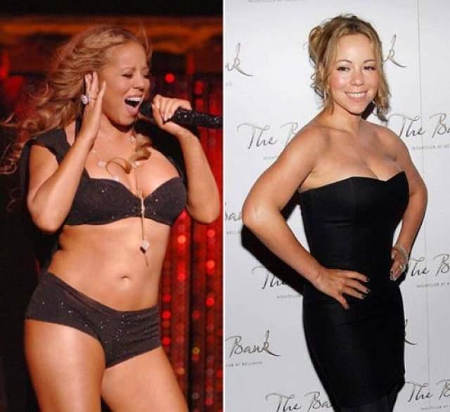 По словам инсайдеров, сегодня вес певицы уже превышает 120 кило. Из-за цифры на весах Мэрайя впала в настоящую депрессию.