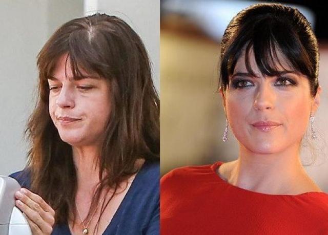 Сельма Блэр. 45-летняя актриса без макияжа выглядит, мягко говоря, не очень ярко.
