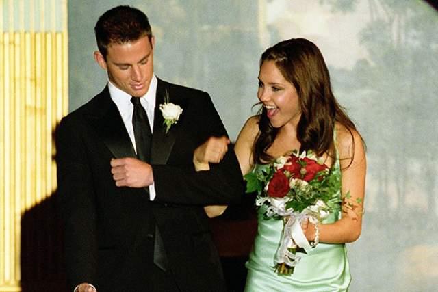 Ченнинг Татум и Аманда Байнс. 2006 год. Вообще Татум едва ли ни со всеми своими партнершами по кино встречался, и на одной из них даже женился... Но до этого красавец перебрал половину юбок Голливуда.