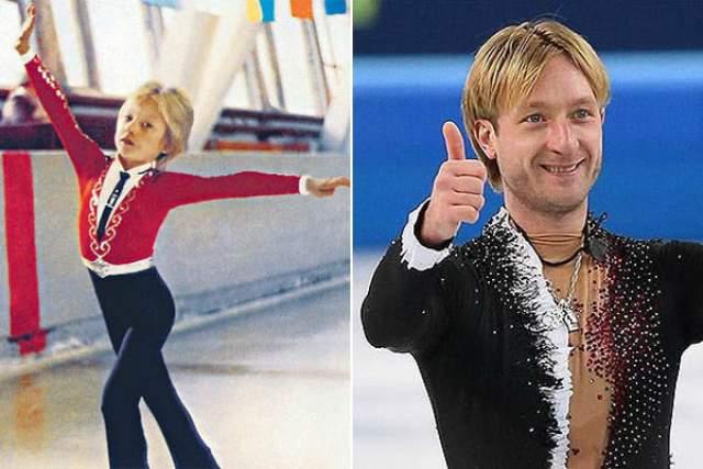 Евгений Плющенко заниматься фигурным катанием начал в четыре года, а в 11 из-за закрытия волгоградской ледовой арены, на которой он тренировался, ему пришлось без родителей переехать в Санкт-Петербург, а мама приехала к нему лишь через год.
