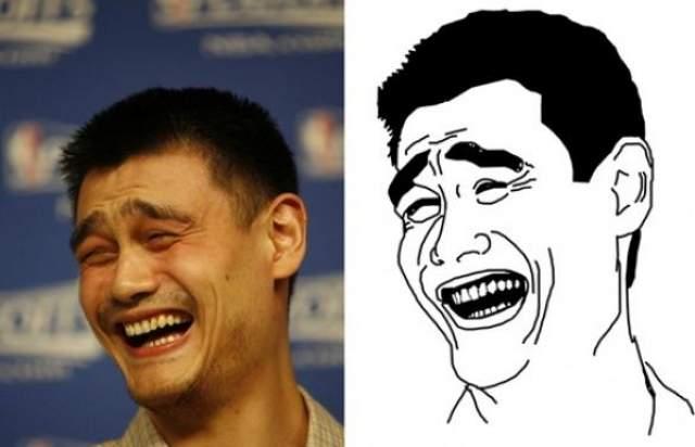Яо Мин . Снимок китайского баскетболиста Яо Мина переделали в мем из-за интересного выражения лица.