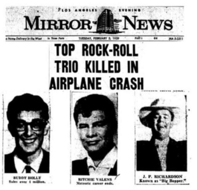 """В СМИ трагедию назвали """"День, когда погибла музыка""""."""