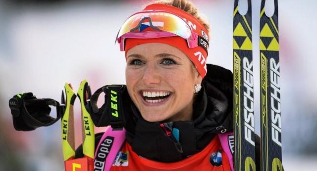 Габриэла Коукалова (Соукалова). Чешская спортсменка стала обладательницей кубка мира в прошлом году.