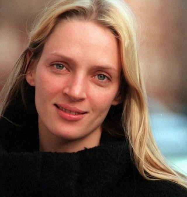 Ума Турман. Многие поклонники считают, что их любимица-актриса без макияжа выглядит даже лучше.