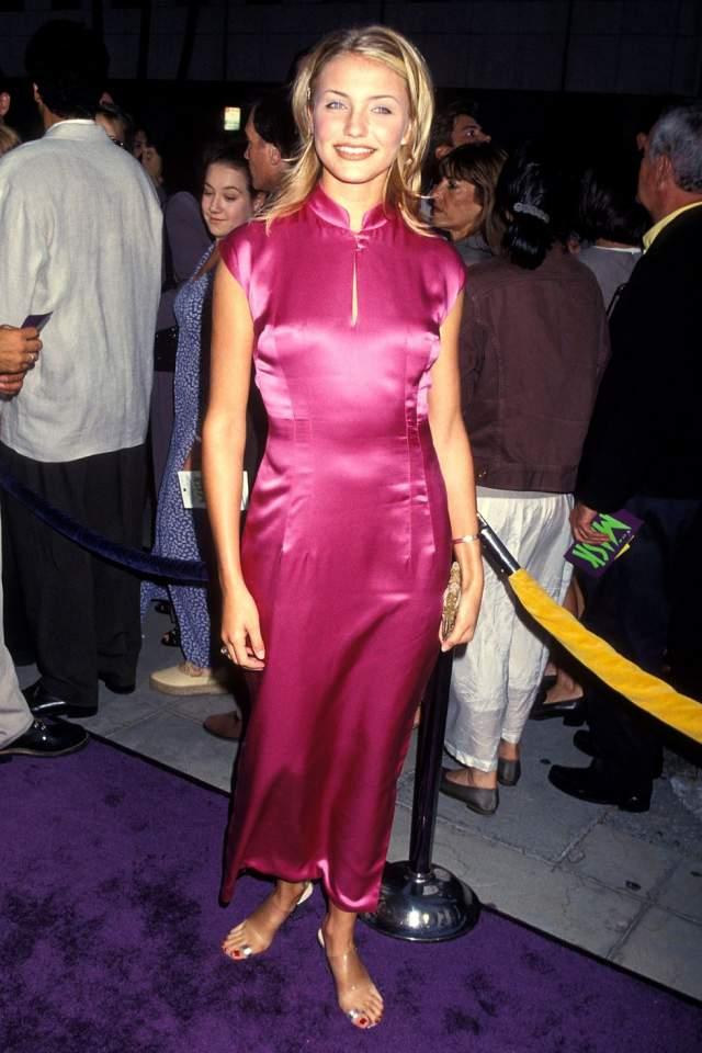"""Камерон Диас на премьере фильма """"Маска""""в Беверли-Хиллс, 1994 год."""