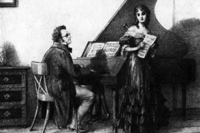 Большую часть жизни Шуберту не хватало денег даже на нотную бумагу. Когда он был молодым учителем музыки, его возлюбленная вынужденно вышла замуж за другого, так как у Франца не было денег на свадьбу.