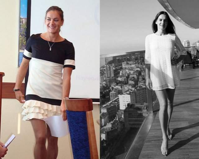 Стоит при этом отметить, что тело Исинбаевой стало более утонченным, нежели было во времена активной спортивной деятельности, когда ей было 20-25 лет.