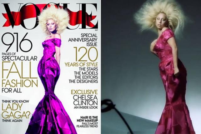 Если бы оригинальные кадры со съемок Леди Гаги для Vogue не всплыли в сети, возможно всю абсурдность отфотошопленного варианта никто и не заметил бы.