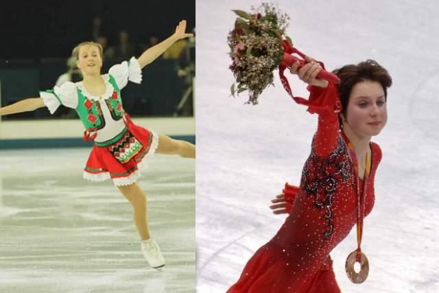 Ирина Слуцкая начала заниматься фигурным катанием с четырех лет.