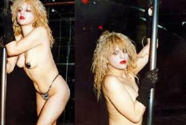 Кортни Лав. В 14-летнем возрасте скандалистка за мелкую кражу угодила в колонию, выйдя из которой, стала диджеем и танцовщицей стриптиза.