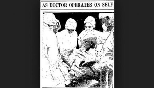 Причем сам себе он прооперировал и то, и другое, а паховую грыжу оперировал уже в почтенном возрасте семидесяти лет. В каждой операции ему помогал целый штат ассистентов.
