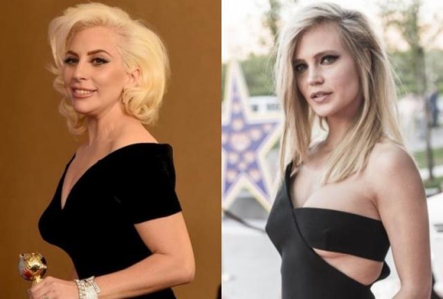Леди Гага и Глюкоза (31 год). Обе блондинки - королевы стиля и эпатажа, причем зарубежная коллега, явно не обладающая модельной внешностью, вовсе не проигрывает отечественной красавице.