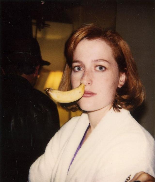 Джиллиан Андерсон. Коллега Дэвида по сериалу с бананом в носу.