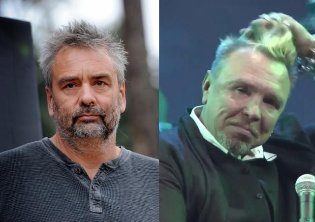 """Гарик Сукачев и Люк Бессон (58 лет). Режиссер немного """"пообтрепался"""" из-за нервной жизни на съемочной площадке, а рокер еще и явно злоупотреблял горячительными."""