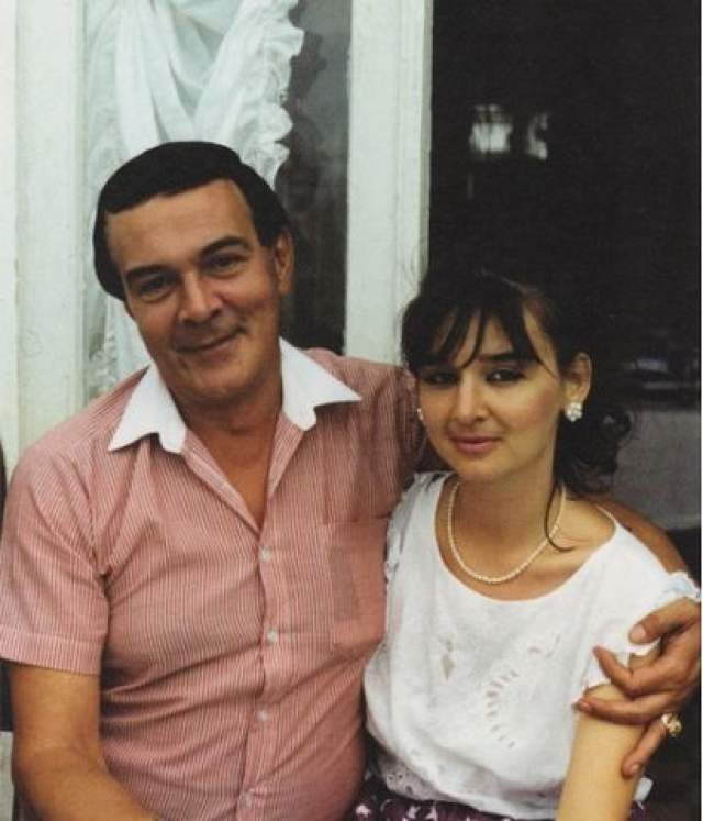 Муслим Магомаев с дочерью Мариной.