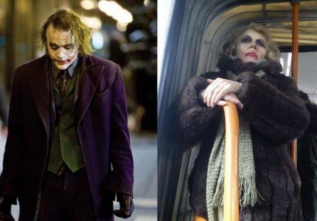 А это российский аналог Джокера в исполнении Хита Леджера .