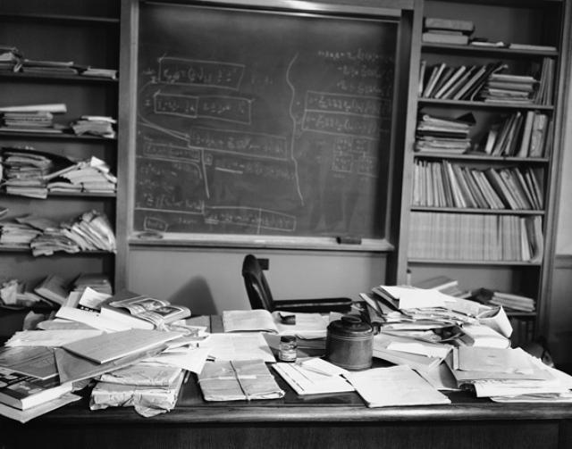 Кабинет Альберта Эйнштейна , физика-теоретика, лауреата Нобелевской премии по физике за 1921 год в Принстонском институте перспективных исследований.