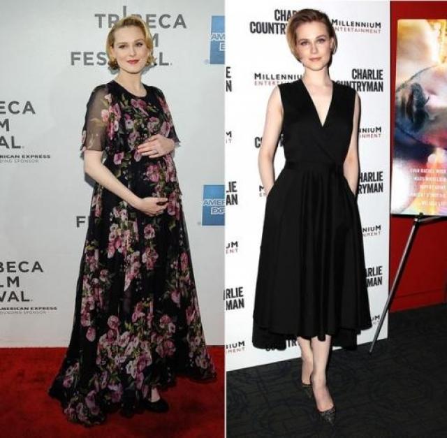 """Эван Рейчел Вуд. Актриса родила сына 30 июля, а уже в ноябре демонстрировала белстящую форму на нью-йоркской премьере своего фильма """"Опасная иллюзия""""."""