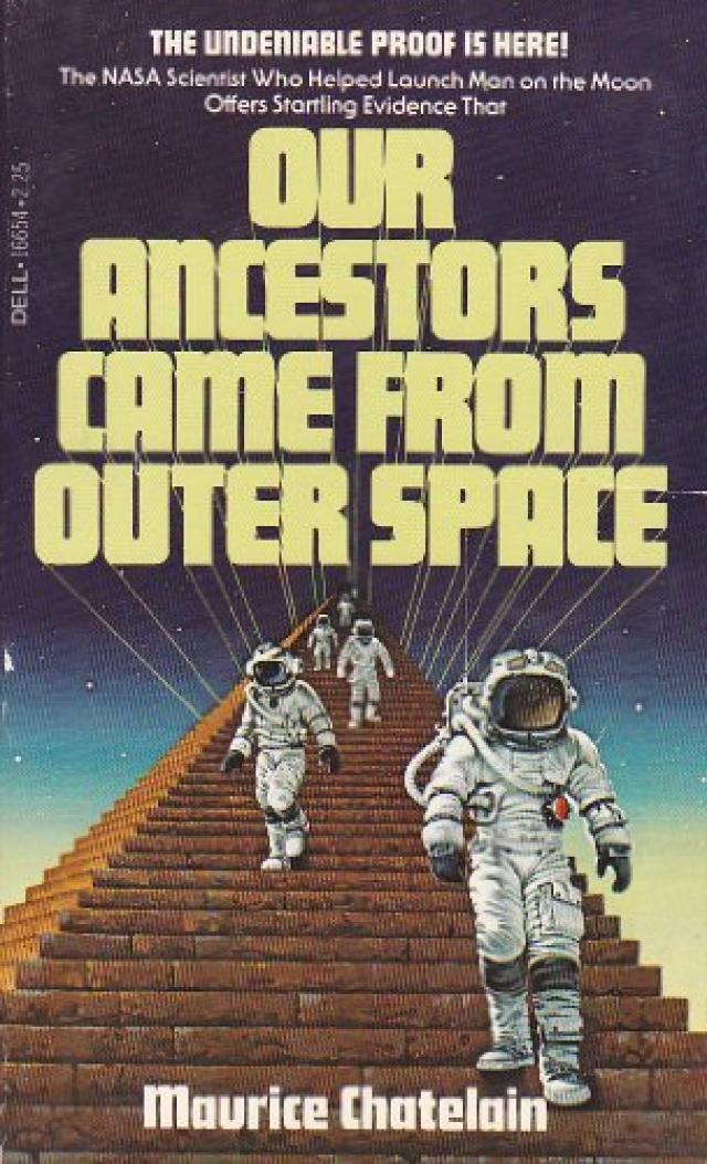 """Морис Шатлен в своей книге упоминает неудачу с посадкой """"Аполлона-13"""", который нес на борту небольшой ядерный заряд для взрыва на Луне и выявления ее структуры. """"На этом корабле, – пишет Шатлен, – произошел таинственный взрыв, уничтоживший один из баллонов с кислородом в кабине…"""