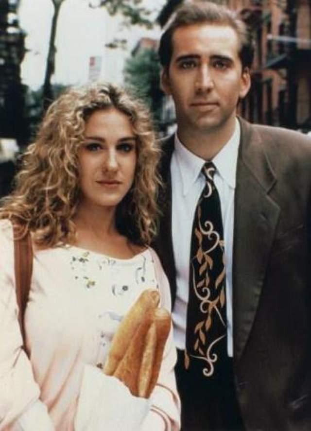 """Николас Кейдж и Сара Джессика Паркер. 1991 год.Партнер по фильму """"Медовый месяц в Лас-Вегасе"""" стал на некоторое время партнером и в жизни звезды """"Секса в большом городе""""."""