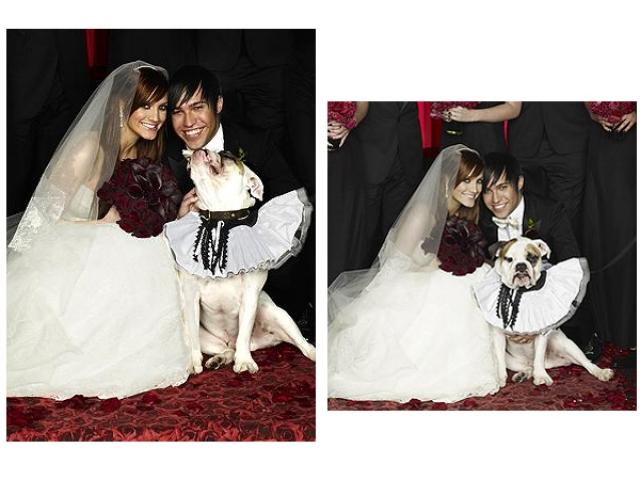 Дом родителей невесты украсили в красных и черных тонах, подружки невесты надели черные платья, даже розы, специально привезенные из Эквадора, были черными.