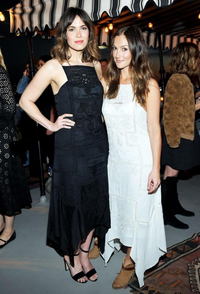 Мэнди Мур и Минка Келли выбрали одинаковые платья, правда, разных цветов, для одного и того же вечера.