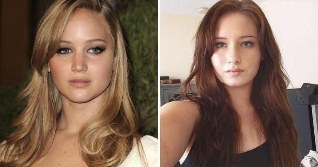 Алексия Майер и Дженнифер Лоуренс. 17-летняя модель Алексия Майер (Alexia Maier) так сильно похожа на Дженнифер Лоуренс (Jennifer Lawrence), что ее часто принимают за оскароносную актрису.