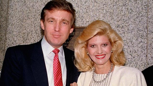 """Дональд и Ивана Трамп. Чешская лыжница Ивана чувствовала себя """"золушкой"""", когда вышла замуж за одного из тогдашних самых желанных холостяков Америки медиа-магната Дональда Трампа."""