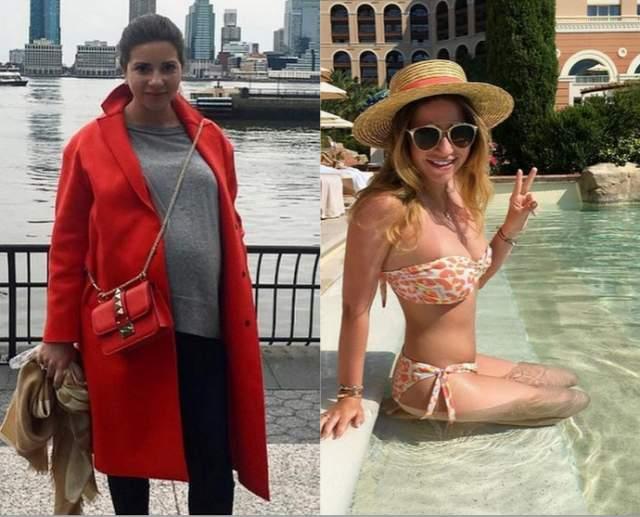 """Галина Юдашкина, 28 лет. Дважды мама после первых родов довольно быстро похудела на 20 кг за три месяца. """"Это ежедневный труд, тренировки 4 раза в неделю, ограничения в еде, а ведь тоже хочется сладкого как и всем"""", - написала дочь известного модельера."""