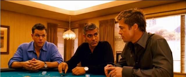 """На игру Клуни подсел на съемках фильма """"11 друзей Оушена"""". Происходящее настолько заворожило актера, что тот начал нередко вместе с другими игроками подсаживаться к рулетке вне съемочной площадки."""