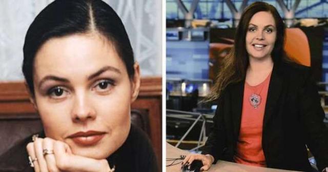 """Екатерина Андреева с 1997 года ведет информационную программу """"Время"""" на """"ОРТ/Первом канале"""", и, как вы можете убедиться, практически не изменилась за 20 лет."""