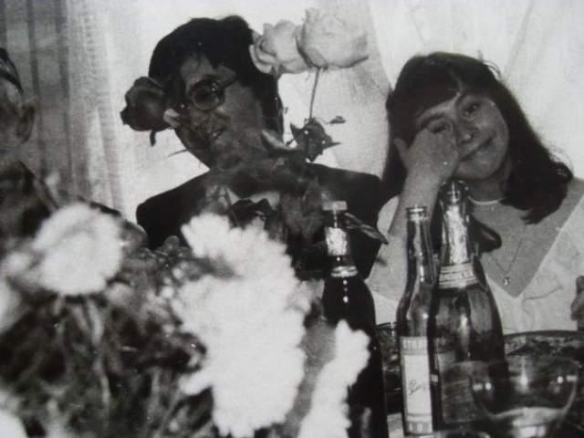 Юрий Шевчук на собственной свадьбе.